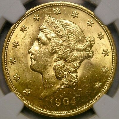 1904 Liberty Head $20 Gold Double Eagle Appealing Gorgeous Beautiful Ngc Ms 62