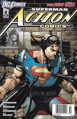 Superman Action Comics Issue 2 The New 52 Modern Age First Print 2011 Morrison