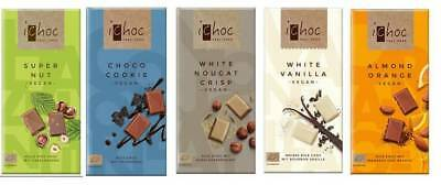 IChoc Vegan German Chocolate Bars Mixed Case Selection 5 x 80g