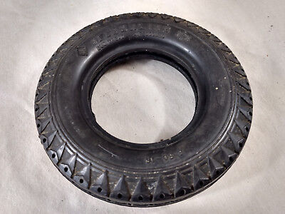 """Vintage 6"""" Seiberling Tires Ashtray Rubber Duo Tread AIr Cooled Car No Glass"""