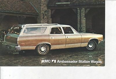 AMC Ambassador, We Back Them Better... Car VINTAGE 1970s POSTCARD!