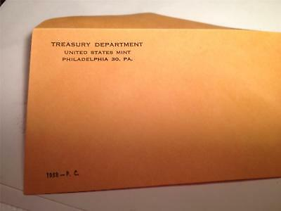 Coin Supplies- 1958 US Proof Set Envelope New with Undisturbed Glue Free US Ship