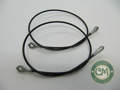 Morris Leyland Mini Boot Lid Wire Support Cables, PAIR. New