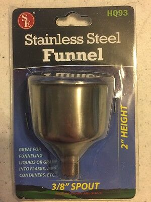 SE HQ93 Stainless Steel Funnel for Flasks