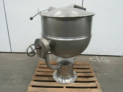 Groen D-60 60 Gal Steam Jacketed Stainless Steel Mixing Pouring Kettle