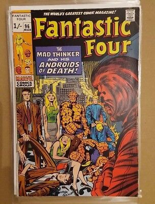 FANTASTIC FOUR # 96 - # 100 (5 Issue Run - VG-/VG/VG+ /  MARVEL COMICS  )