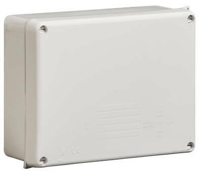 Wiska Electrical Enclosure 220x170x80mm Junction Box Grey IP65 Outside External