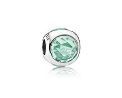 Authentic Pandora silver 925 # 792095NIC Radiant Droplet (icy green) charm NWOT