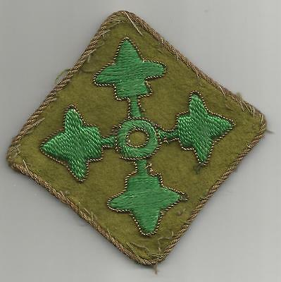 Off Uniform Theater Made Bullion US Army 4th Infantry Division Patch Inv# G467