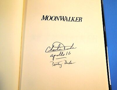Moonwalker Apollo 16 Signed by Authors Charles & Dotty Duke UnPersonalized