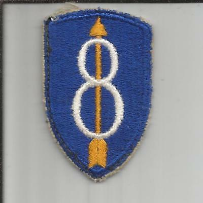 WW 2 US Army 8th Infantry Division Patch Inv# B240
