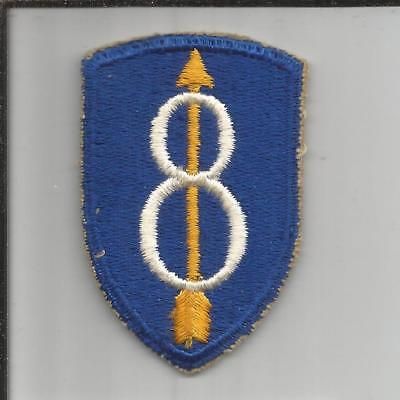 WW 2 US Army 8th Infantry Division Patch Inv# B244