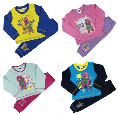 Boys Girls Barney The Dinosaur Pyjamas Night Wear Set 12-18m 18-24m 2-3 and 3-4Y