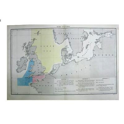 19th Century Antique Map/Print Naval Stations - Devonport, Portsmouth, Sheerness