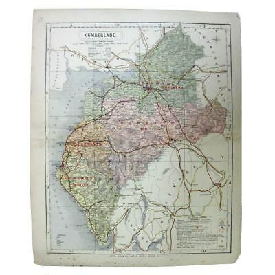 Antique Map 1889 - Cumberland (Letts, Son & Co)