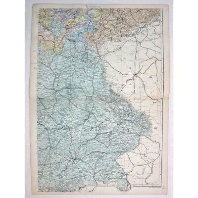 GERMANY (SE) German Empire, Bavaria, Saxony - Antique Map 1880 by Bacon