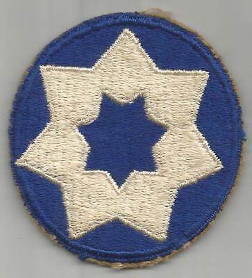 WW 2 US Army 7th Service Command Patch Inv# JR611