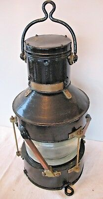 Old antique 1942 World War 2 Best & Lloyd Pat 5902 Marine ships lamp lantern