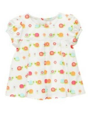Gymboree Growing Flowers New 12 18 24 months 2T Swing Top Snails Shirt Twins