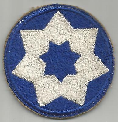 WW 2 US Army 7th Service Command Patch Inv# JR616