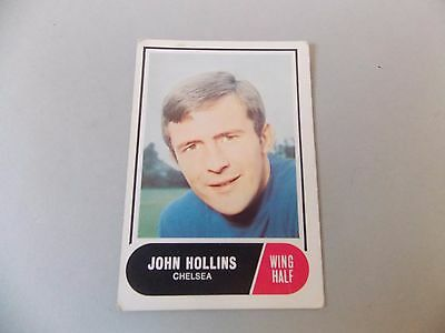 A&BC Football Facts 1969 Green Back #23 John Hollins Chelsea 1ST Series