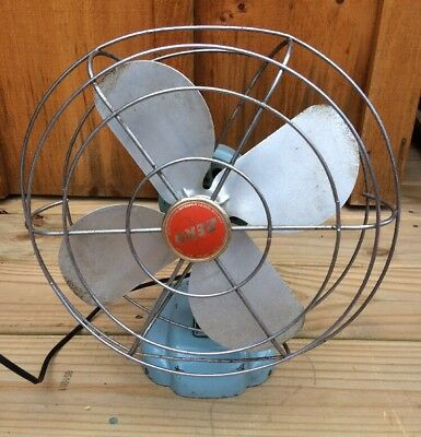 Vintage ZERO Metal Fan McGRAW ELECTRIC COMPANY Model 1265R Oscillating WORKS!!!