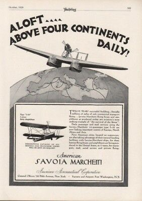 1929 Savoia Marchetti Plane Flying Boat Airport Travel 8417