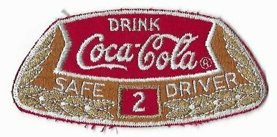 Drink Coca Cola Vintage Embroidered Safe 2 Year Driver Patch Coke