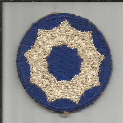 TT524 WW 2 9th Service Command Patch