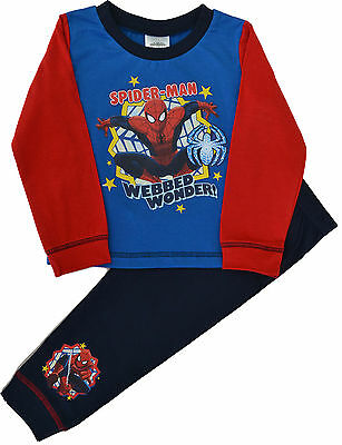 Boys Spiderman Webbed Wonder Snuggle Fit Pyjamas Sizes 18-24 Months SP36