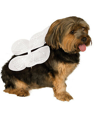 White Angel Butterfly Fairy Pet Dog Cat Costume Wings-S-M
