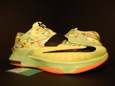 low priced a001b eeb08 Nike Kevin Durant Kd Vii 7 Easter Camo Liquid Lime Black Vapor Sunset Glow  12