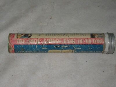 Very Rare 1950's The State Savings Bank of Victoria Cylinder School Pencil Case
