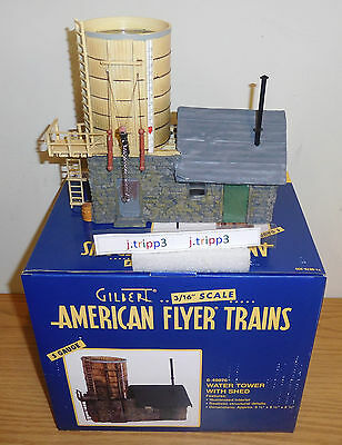 LIONEL AMERICAN FLYER 6-49876 WATER TOWER with SHED REALISTIC S GAUGE ACCESSORY