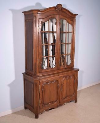 1700's Antique French Provincial Gun Display Cabinet