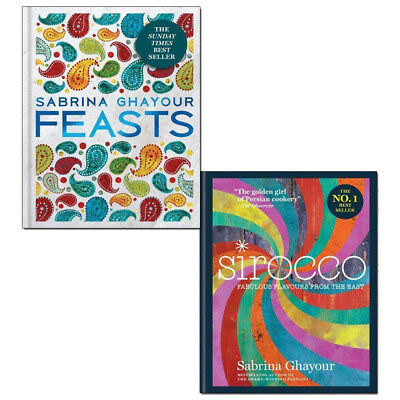 Sabrina Ghayour Collection Feast 2 Books Pack Set Sirocco: Fabulous Flavours NEW