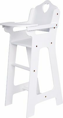 Doll High Chair, White from 3 years