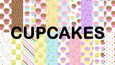 CUPCAKES SCRAPBOOK PAPER - 20 x A4 pages