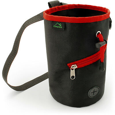 Black Dog Training Pouch Waist Belt Snack Treat Storage Bag Poo Bags Dispenser