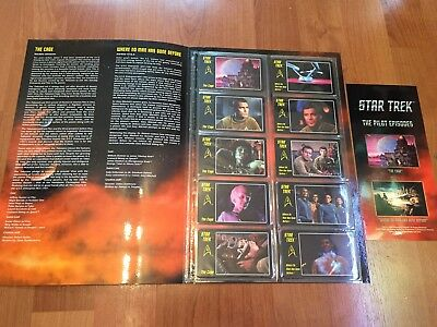 Collectable Phonecards. Star Trek The Pilot Episodes Cards In Folder