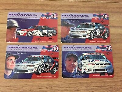 Collectable Phonecards. 4 Racing Car Phonecards