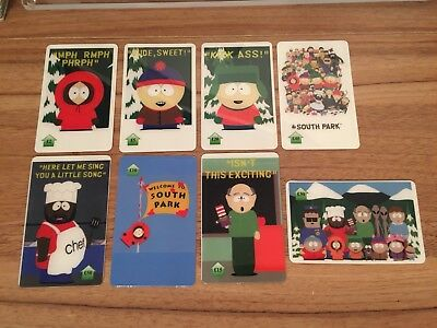 Collectable Phonecards. 8 South Park  Phonecards