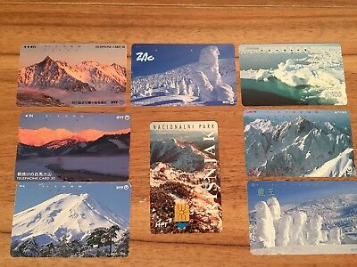 Collectable Phonecards. 8 Snow Mountain Phonecards