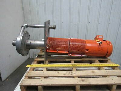 """RS Corcoran  5000VEC-1 7.5Hp Vertical Sump 316 Stainless Centrifugal Pump 3""""x 2"""""""