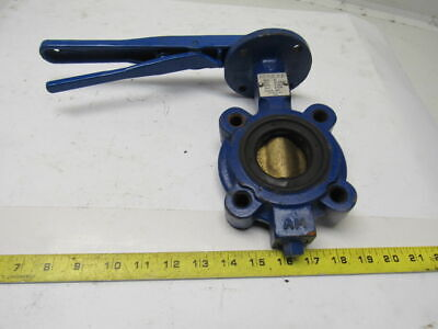"Keystone Figure 222 2"" Cast Iron Butterfly Valve Stainless Stem & Bronze Disc"