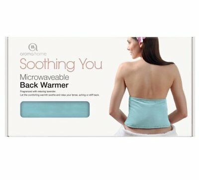 Aroma Home SOOTHING YOU BACK WARMER Microwave HOT Cold Wrap BLUE