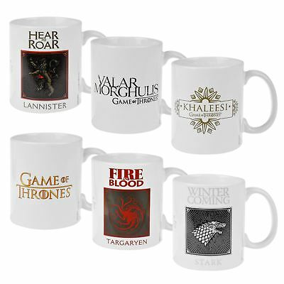 Official Game of Thrones Mug Stark Lanister Targaryen Khaleesi Valar Morghulis