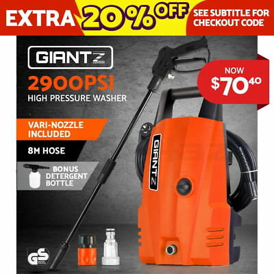Giantz 2900PSI High Pressure Washer Electric Water Cleaner 8M Hose Gurney Pump