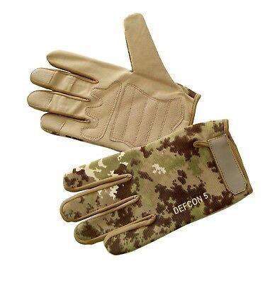 Guanti Militari Tattici Defcon 5 Shooting Gloves Multiland Mimetici Tiro Softair