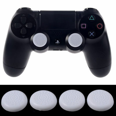 4 PCS Analog Thumb Grips Covers For PlayStation 4 PS4 Xbox One Controller White